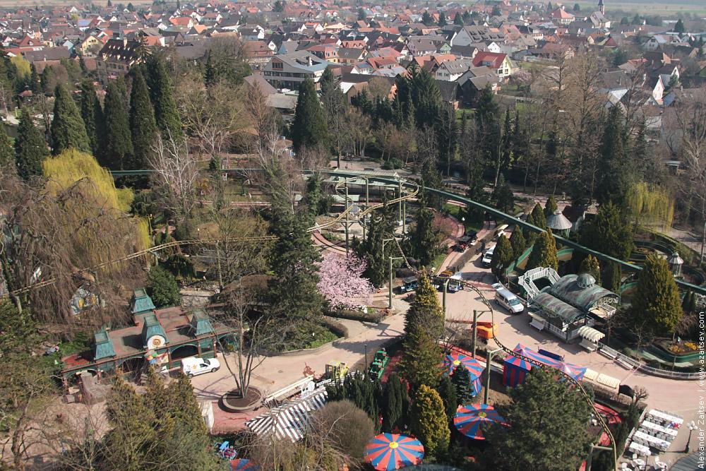 европа парк с высоты