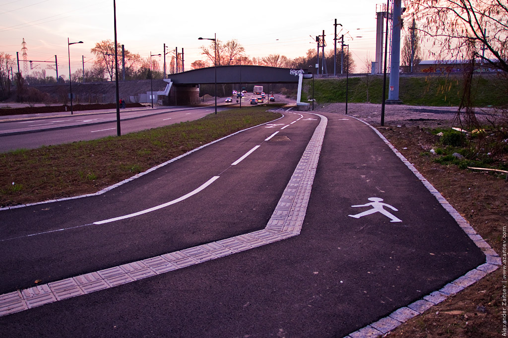 велодорожка в страсбурге