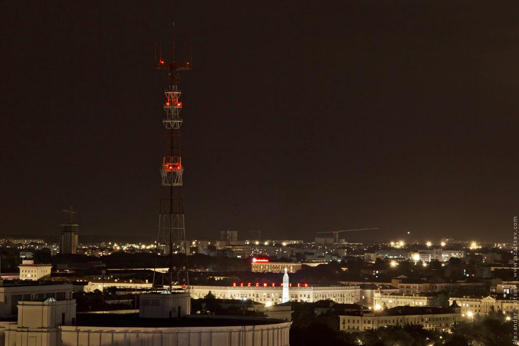 минск площадь победы ночью