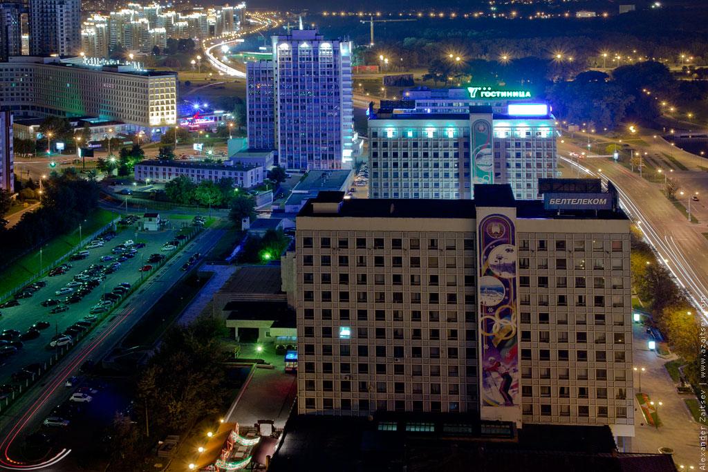 минск проспект победителей ночью