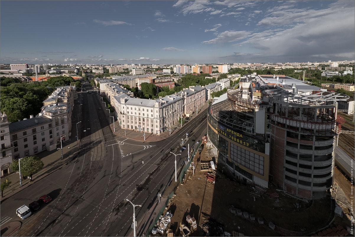 улица бобруйская с крыши гостиницы экспресс