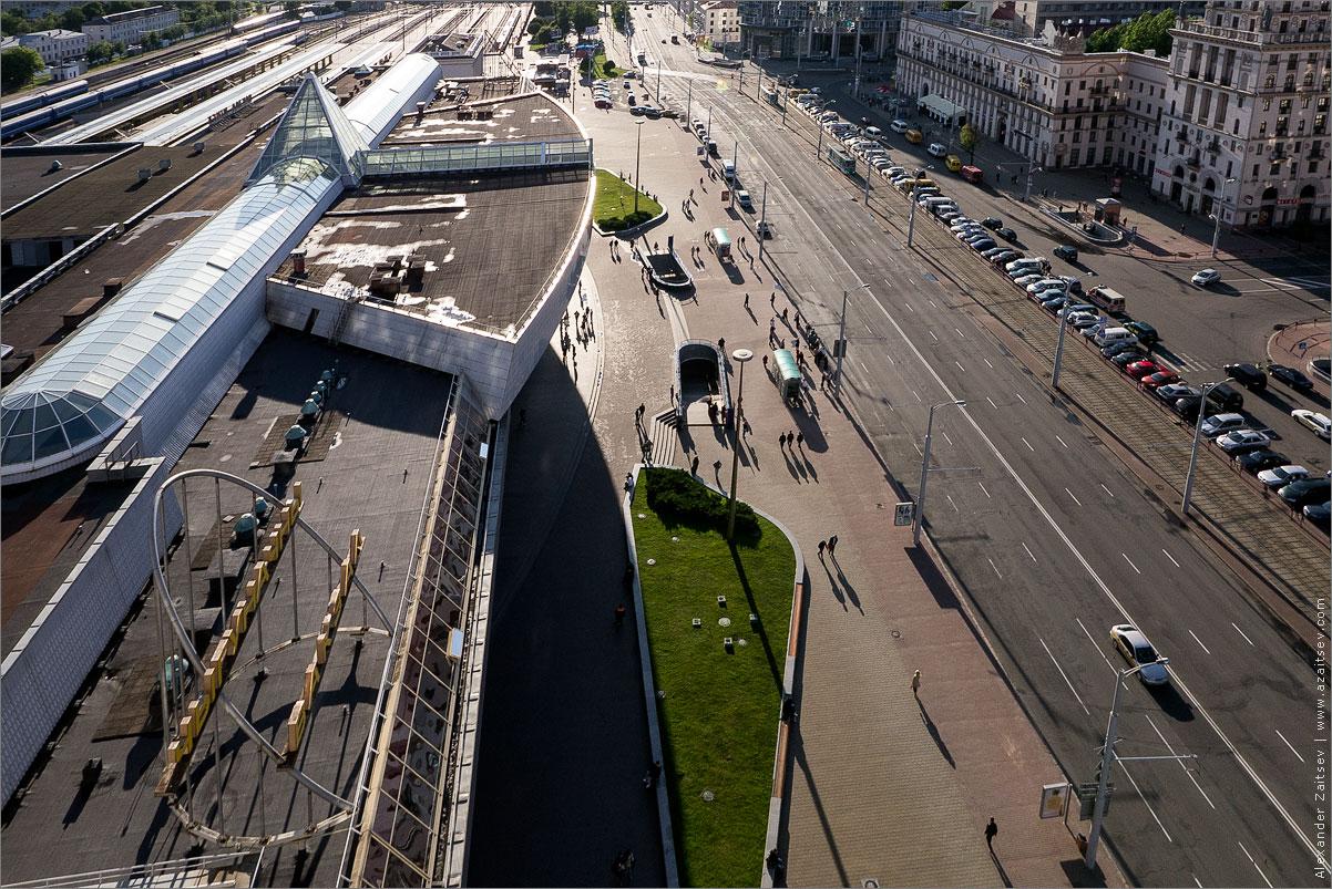 крыша жд вокзала минск