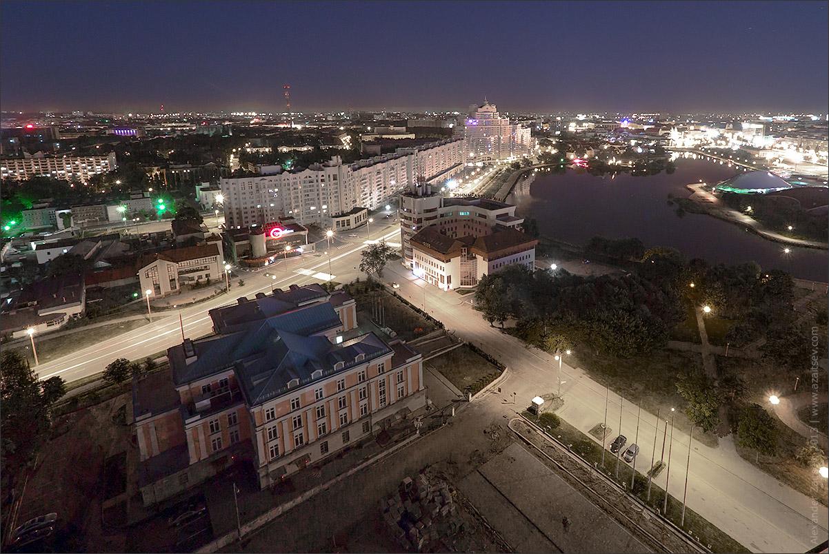 ночной Минск, вид с гостиницы Беларусь