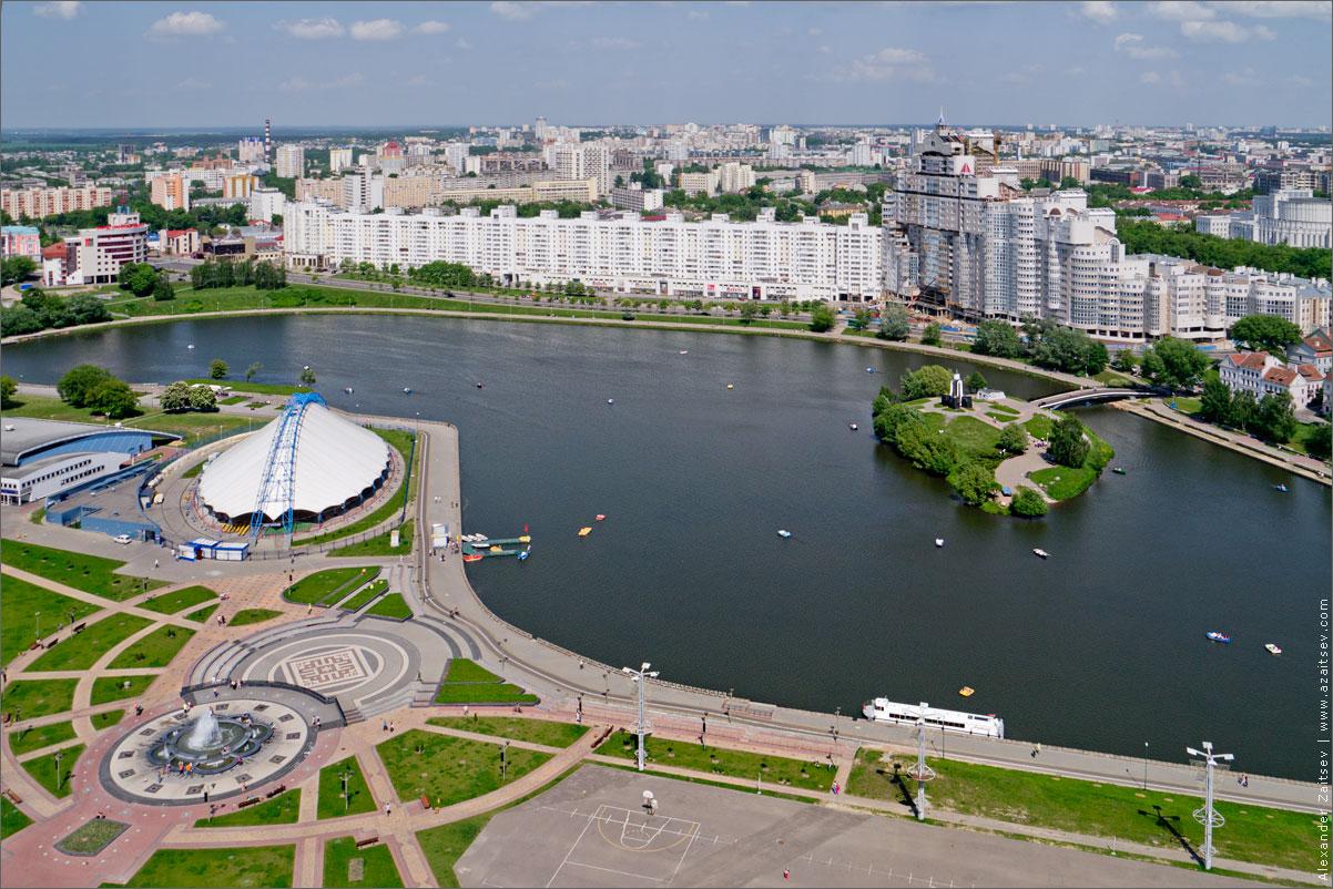 Река Свислочь на Немиге