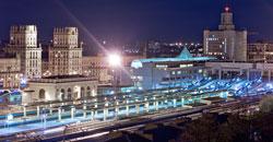 минский вокзал ночью с крыши