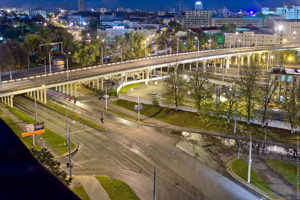 миский вокзал ночью с высоты