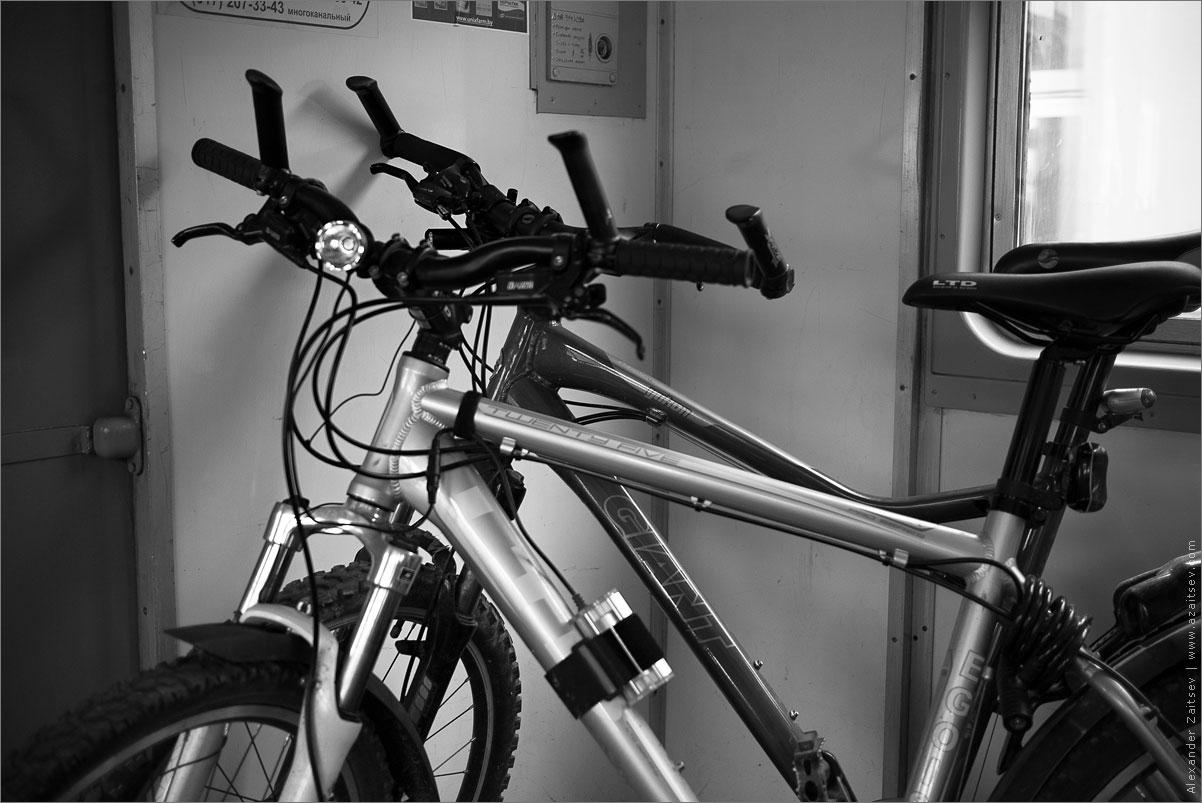 велосипеды в электричке