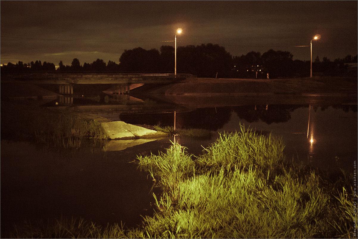ночью возле Заславля