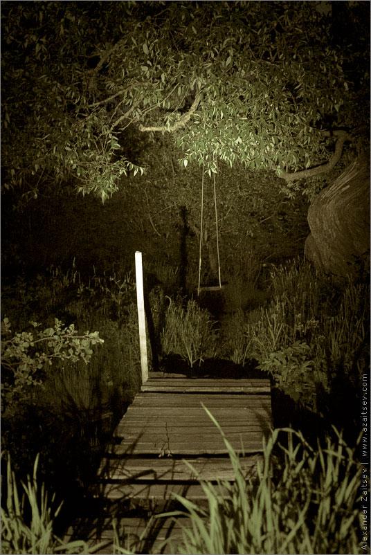 мостик ночь