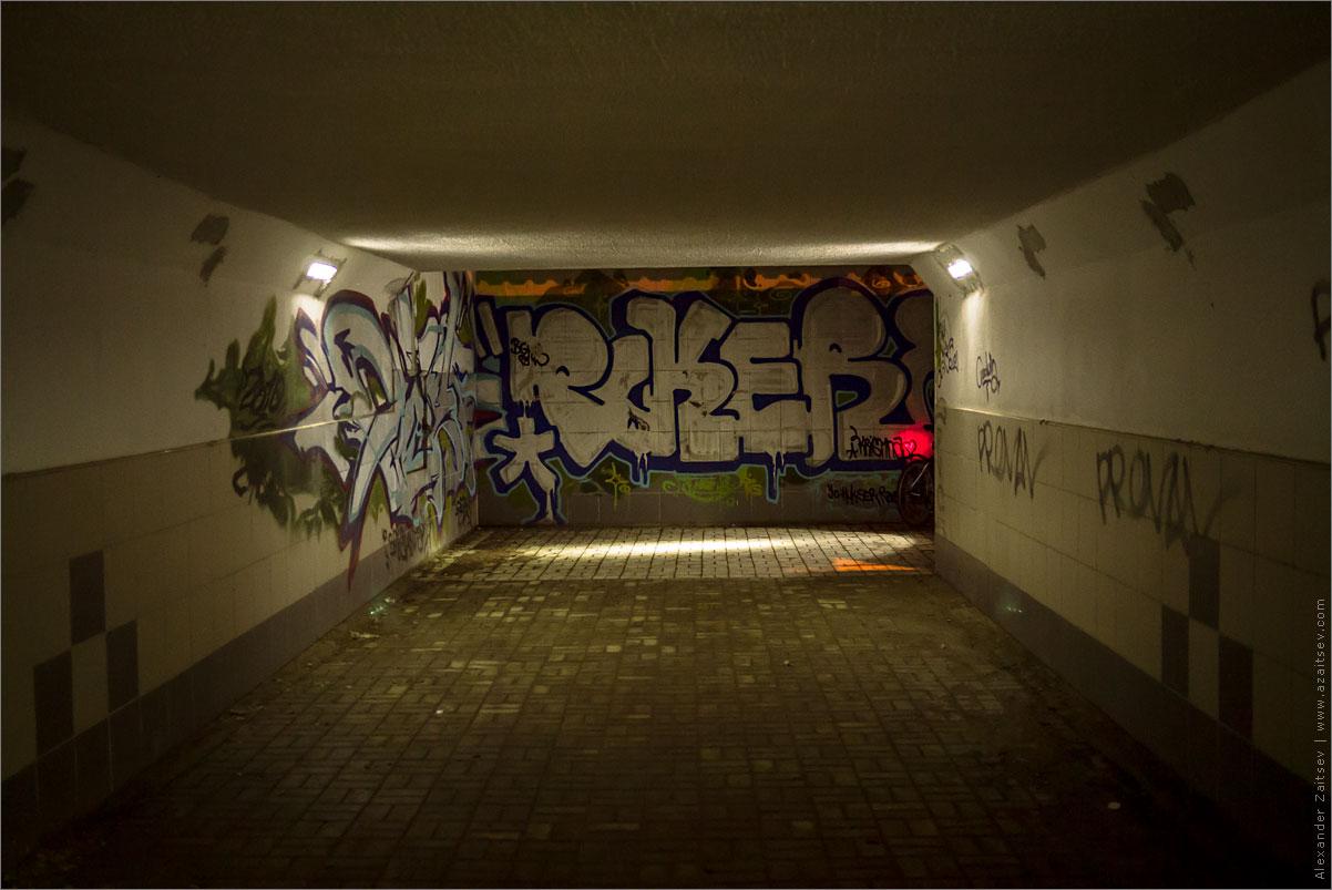 подземный переход со светодиодным освещением